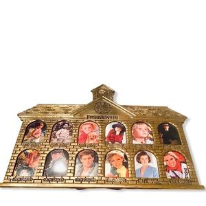Brass Picture frame Schoolhouse 1st to 12th GR NOS